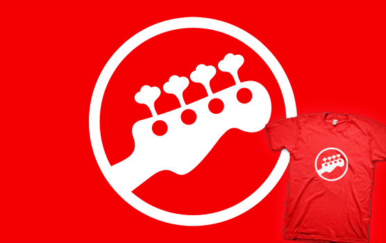 Scott Pilgrim T-shirt - Rock Band Instrument Symbol - Bass