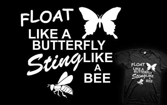 Muhammad Ali T-shirt - Float Like a Butterfly
