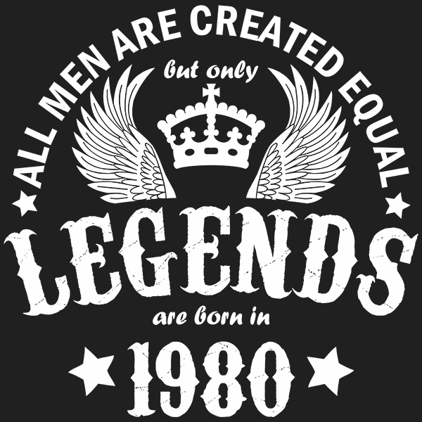 All Men are Created Equal But Only Legends are Born in 1980 T-shirt