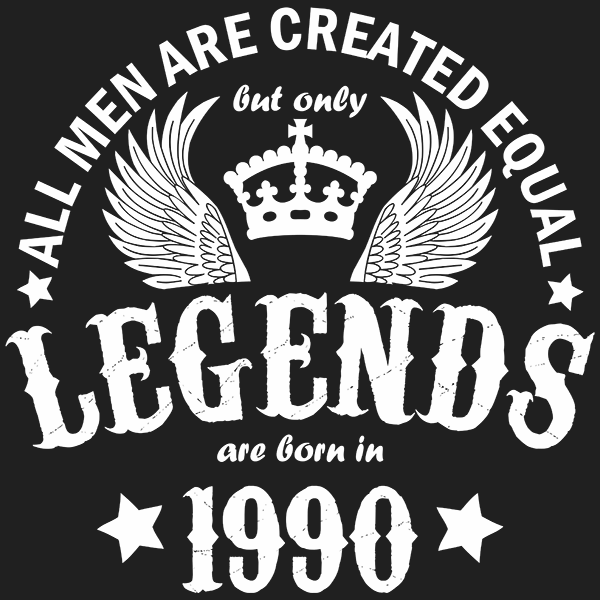 All Men are Created Equal But Only Legends are Born in 1990 T-shirt
