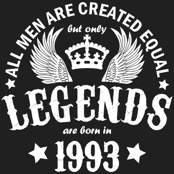 All Men are Created Equal But Only Legends are Born in 1993 T-shirt