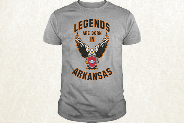 Legends are born in Arkansas T-shirt