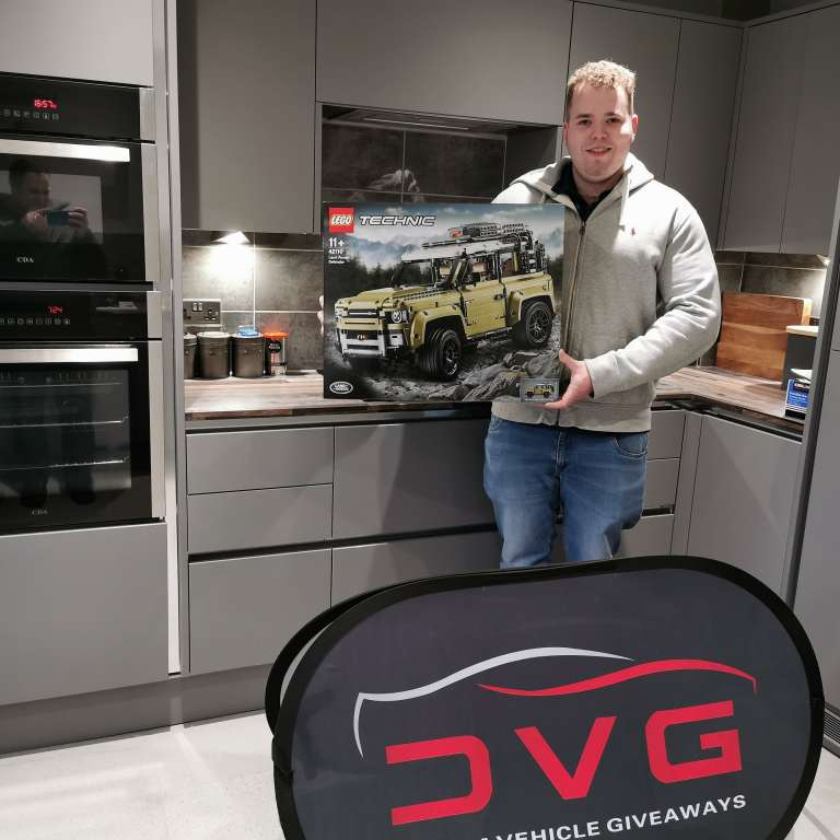 Will King from Clevedon near Bristol and winner of our Lego Land Rover with ticket No. 69 on 02.03.20