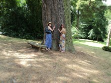 My Daughter and I tree hugging