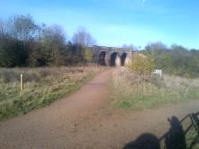 The railway bridge that once would take coal from the pits.