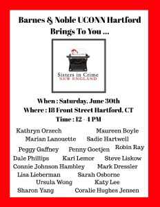 Barnes & Noble UConn Hartford Bookstore presents Sisters in Crime Mystery Author Book Fair
