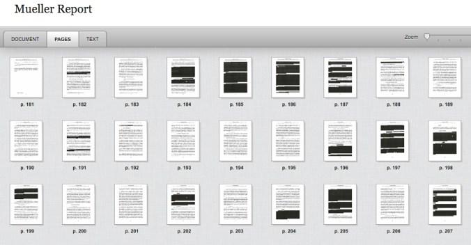 Mueller Report, Vol-I, Sec-V, redacted pages