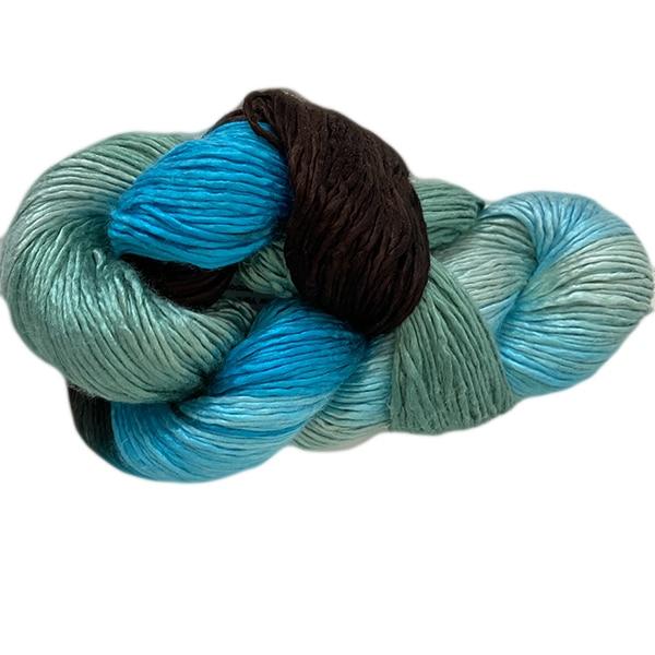 Artyarns Regal Silk Yarn (1032 Teal Multi), Dream Weaver Yarns LLC
