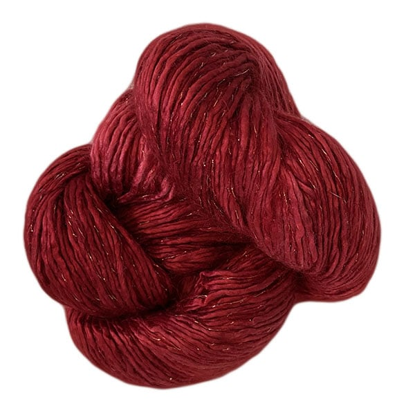 Artyarns Silk Rhapsody Glitter Yarn (2295G Ruby), Dream Weaver Yarns LLC