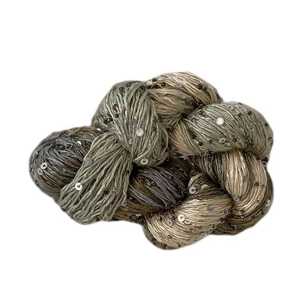 Artyarns Beaded Silk and Sequins Light Yarn (H14S Olive Multi), Dream Weaver Yarns LLC