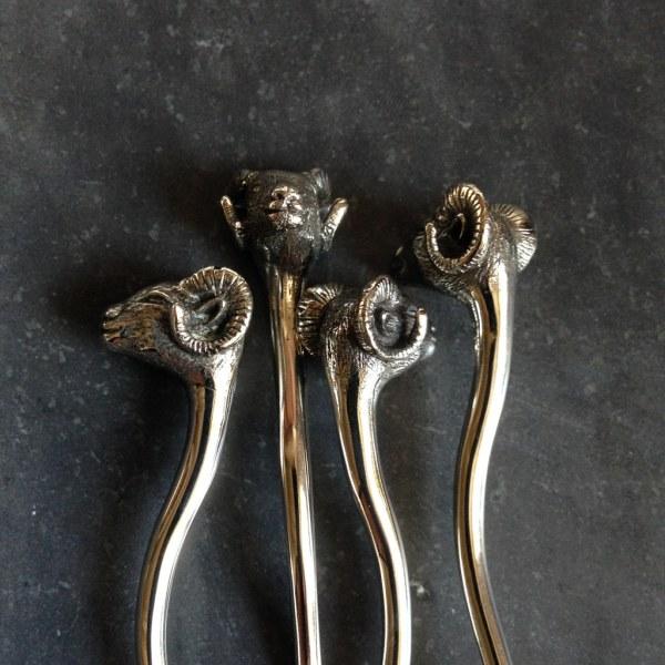 JUL Mountain Sheep Shawl Stick Pin, Dream Weaver Yarns LLC
