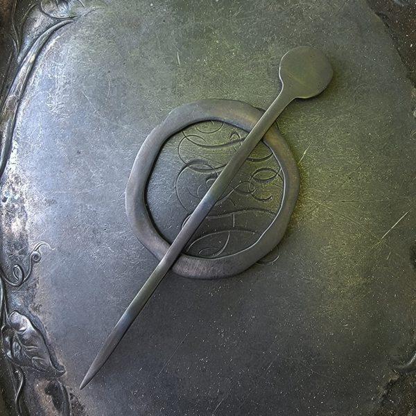 JUL Mid-Century Modern Circle Cuff and Shawl Pin, Dream Weaver Yarns LLC