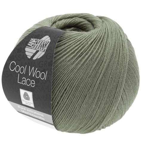 Lana Grossa Cool Wool Lace Hand Dyed Shawl with Open Work Trim Pattern, Dream Weaver Yarns LLC