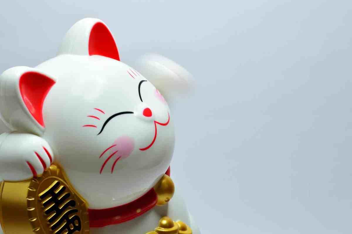 japanese lucky coin cat financial abundance