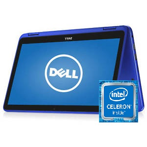 Dell Inspiron 11 I3168 - 0028 Intel Celeron Laptop 11.6 Inch 2 GB ROM 32 GB Hard Drive - Recertified - Blue