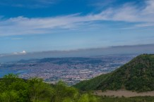 Naples view from Vesuvius volcano