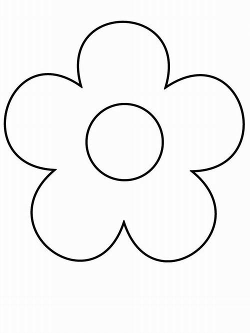 Картинка раскраска цветок для детей 187 DreemPicscom