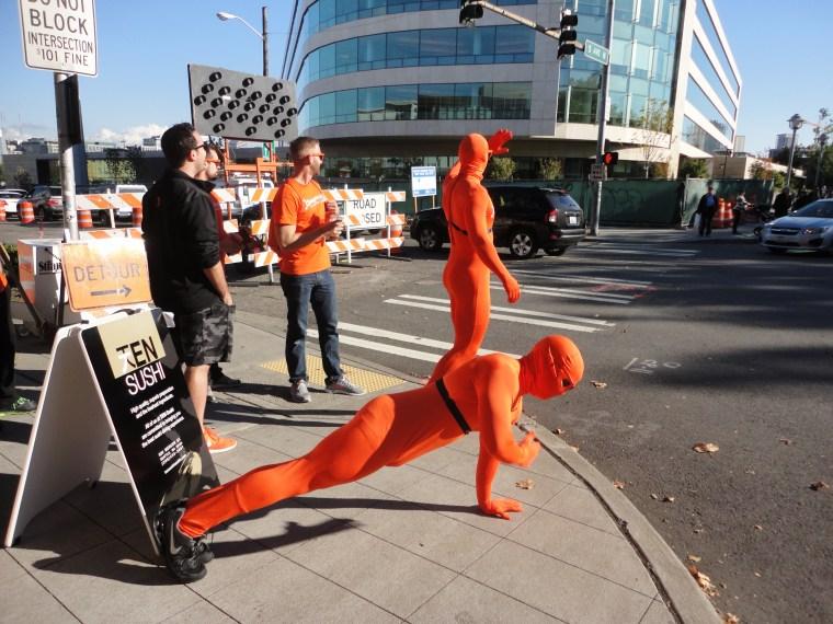 Orange man in Seattle