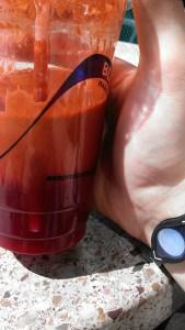 Juice from Marlene's market Tacoma, somebody's idea of stress management