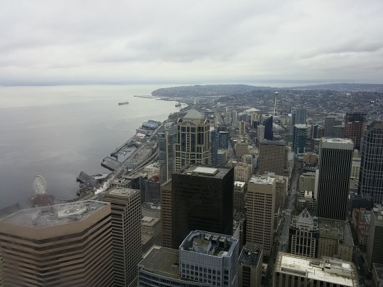 Here is Seattle in all of its spring glory, I was happy to be catching my breath with this in sight