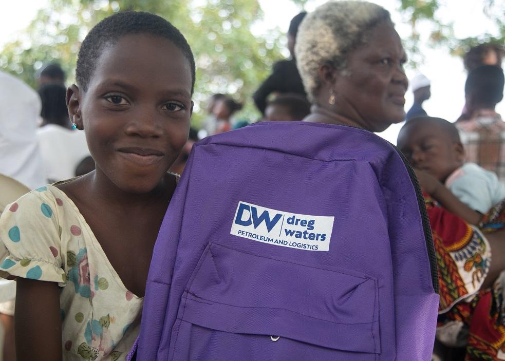 Dreg Waters CSR 2017 at Tarkwa Bay Lagos with Slum2School Africa
