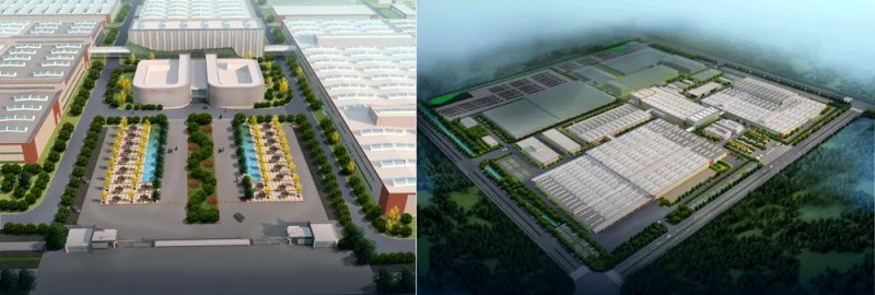 Rendering der geplanten Byton Fabrik in Nanjing