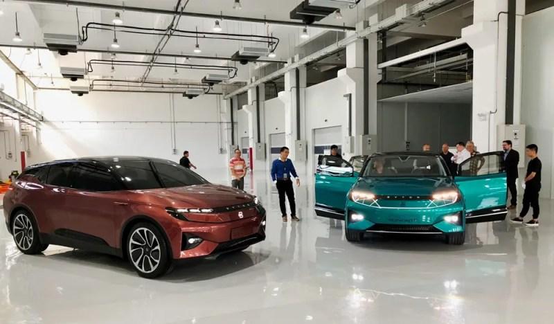 Konzeptautos in der Byton Zentrale