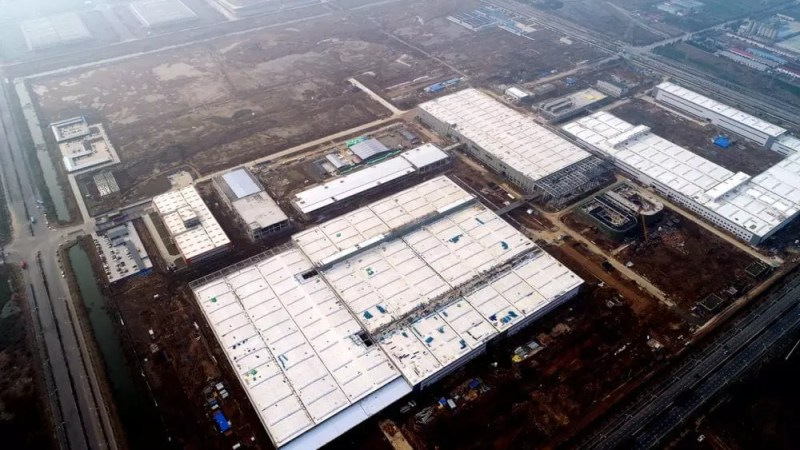 Luftaufnahme Byton Fabrik in Nanjing
