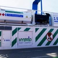 Sauberer Landstrom für Containerschiffe im Hamburger Hafen