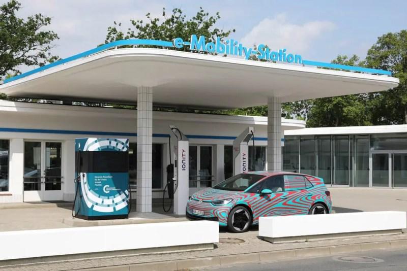 Mobile Ladesäulen von VW