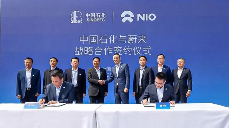 Nio Sinopec Batteriewechsel Kooperation