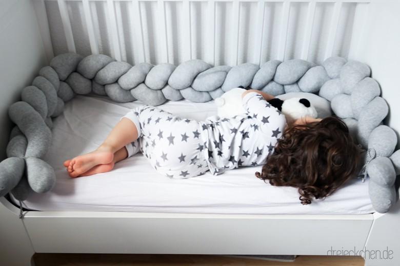 Babynest selber machen, Bettschlange nähen