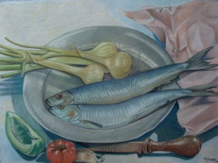 still life with two herings