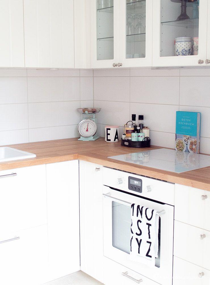 LIVING: Küchenorganisation in einer Ikea Küche und DIY Farrow & Ball | {Landhausküche weiß ikea 39}