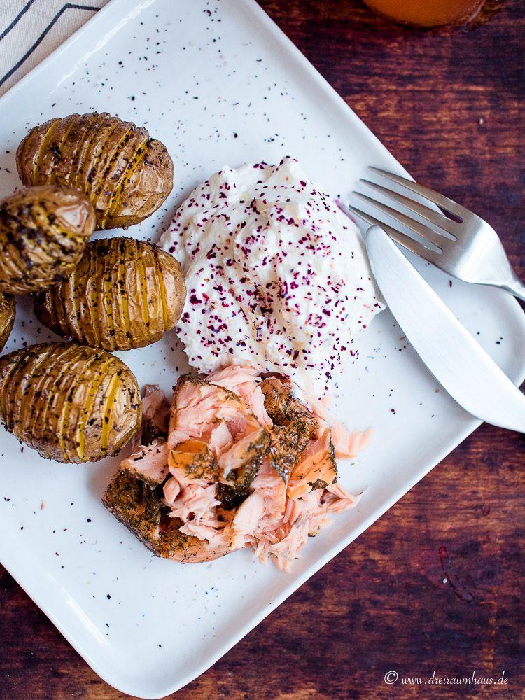 dreiraumhaus fächerkartoffeln mit lachs im freitagsmampf food rezept lifestyleblog leipzig