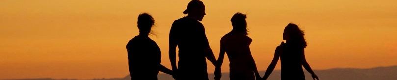 dr. eldor brish md family silhouette sunset beach