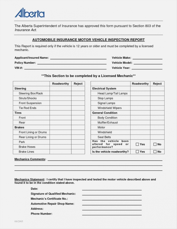 Automotive Repair Checklist
