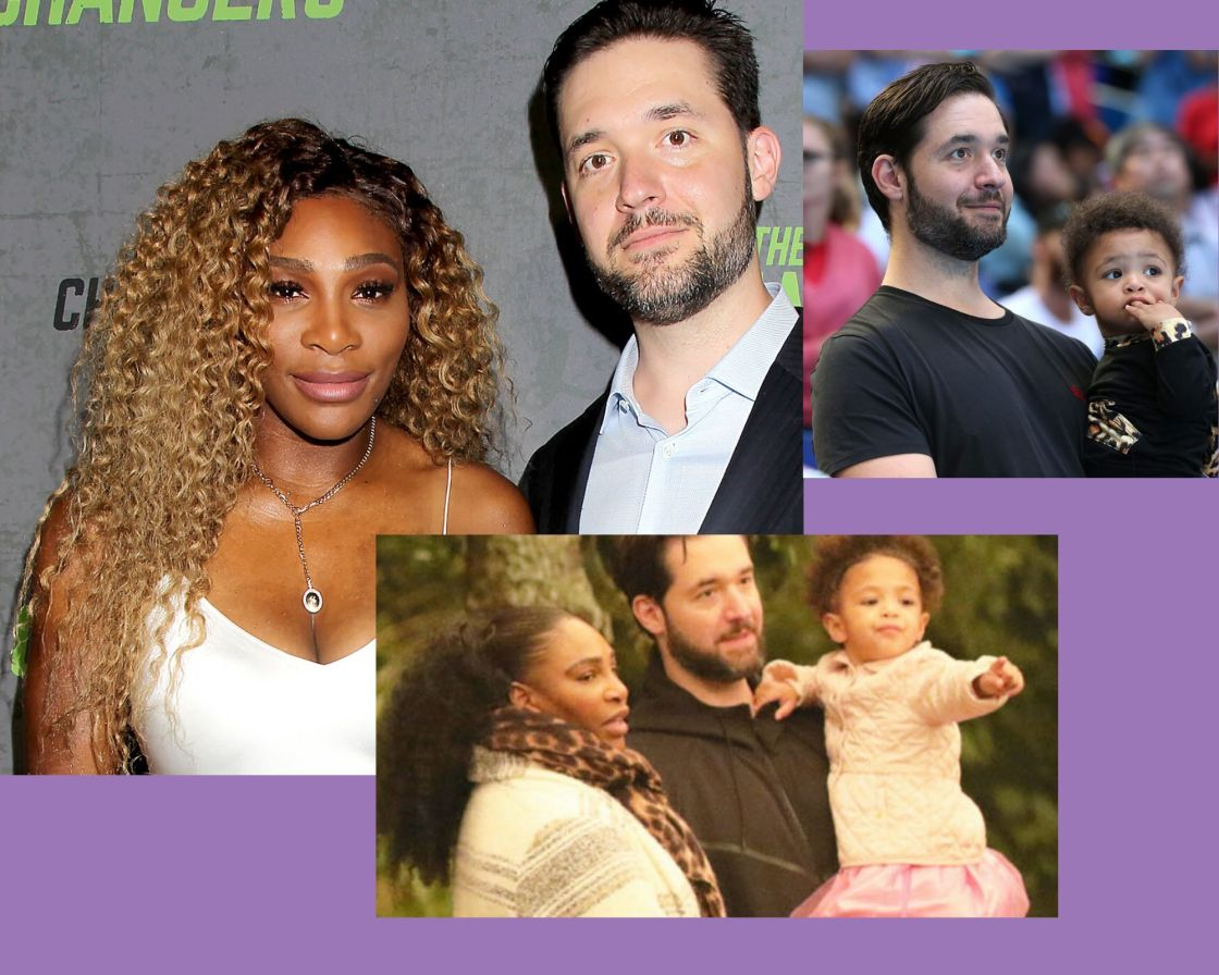 alexis ohanian with serena and daughter