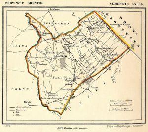 1024px Netherlands Anloo map of 1866 300x267 - Geschiedenis