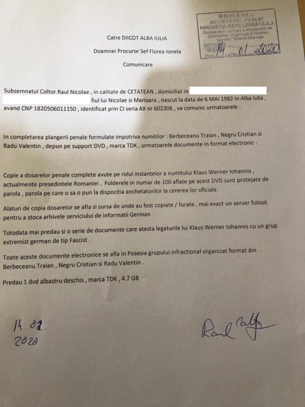 comunicare probe diicot alba 14.01 768x1024 - Românul care afirma ca poate deconspira rețeaua Soros revine cu noi precizări