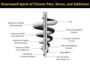 Downward Spiral of Pain and Prescription Opioid Misuse, Abuse, Dependence, and Addiction