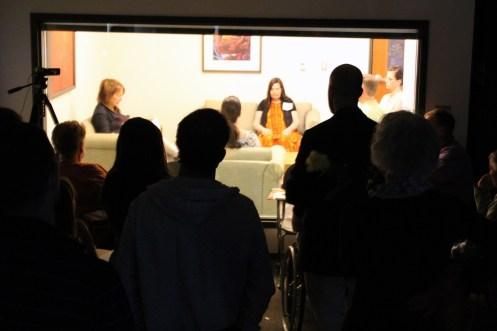 eric supervising meditation training in clinic room