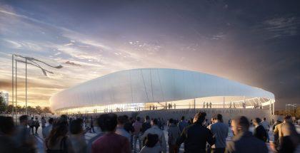 Außenansicht Planung Heinz-Steyer-Stadion (Bild: ARGE BAM SPORTS GMBH/BAM Deutschland AG, O+M ARCHITEKTEN, Phase 10)