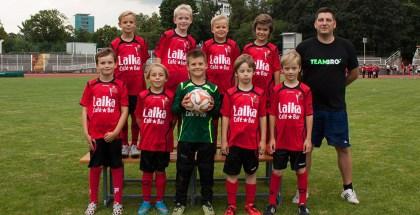 Café Laika sponsert F-Jugend-Trikots