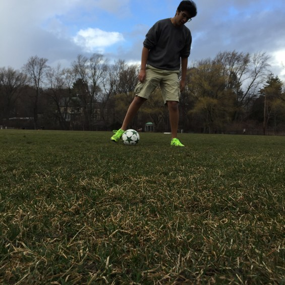 Amory Park: open space and warm weather made it perfect weather conditions to play soccer