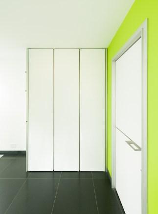 moderne witte vestiaire inbouwkast op maat