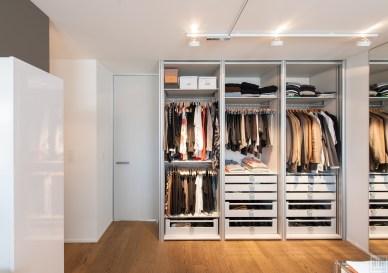 Open garderobekasten zonder deuren op maat gemaakt