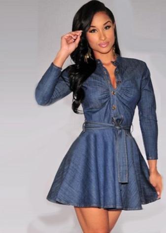 С чем носить платье-рубашка (69 фото): джинсовое, с какой ...