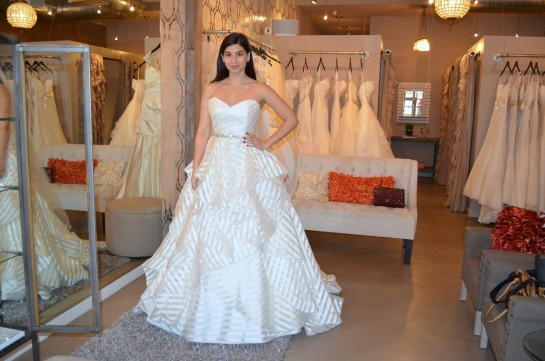 Striped Bridal Gown