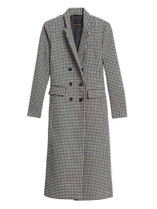 Banana Republic Petite Houndstooth Coat